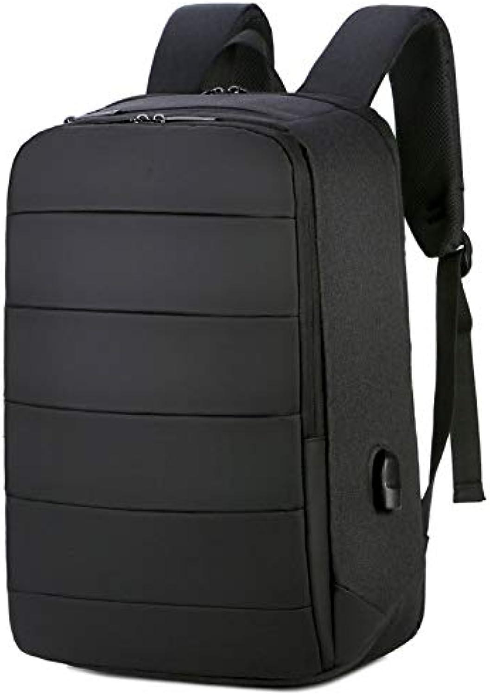 QUJHF Beilufiger Rucksack, Multifunktionsreisegeschftstasche des aufladenden Rucksacks USB, wasserdichte Computertasche der groen Kapazitt (Farbe   schwarz)
