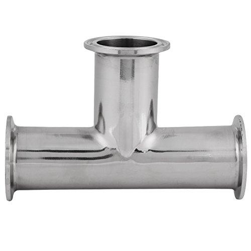 Soapow 1 Stück Standard-Edelstahl-Klemm-T-Stück 3-Wege-Φ38 x 1,5 Sanitär-Zubehör