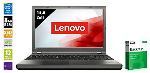 Lenovo ThinkPad T540p | Notebook | 15,6 Zoll | Core i7-4800MQ @ 2,7 GHz | 8GB RAM - 250GB SSD | DVD-RW | Geforce GT 730M | 1920x1080 | Webcam | Win 10 Pro (Zertifiziert und Generalüberholt)