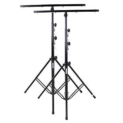 2x Ekho Reinforced Steel Adjustable Lighting Stands
