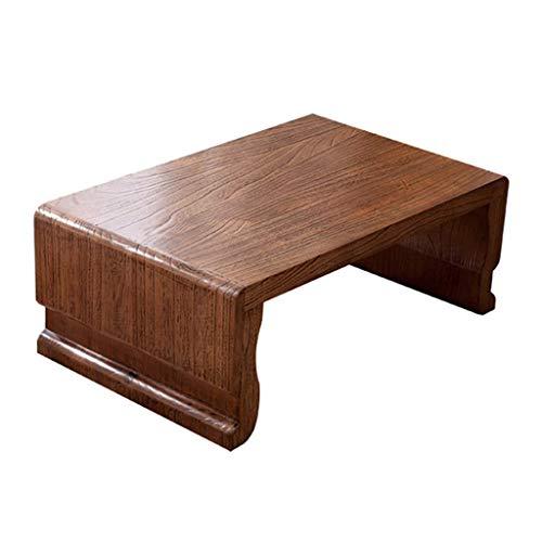 ADSE Tables Basses Table d'appoint en Paulownia Table Basse Zen Simple Table d'ordinateur paresseuse Plate-Forme de Tatami Protection de l'environnement Naturel