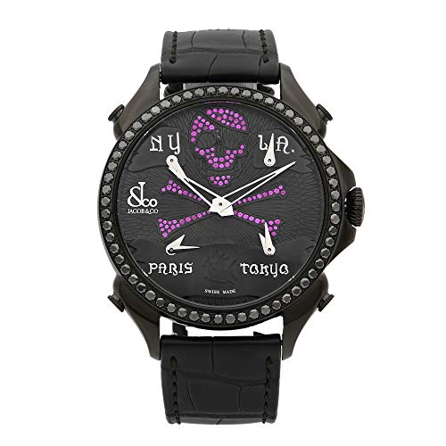 Jacob & Co. Palatial Ghost 5 fuso orario quarzo Mens Watch PZ500.11.SO.NU.A