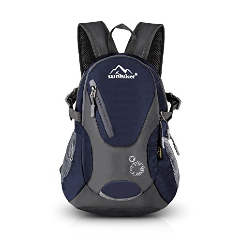 Sunhiker Cycling Hiking Backpack Water Resistant Travel Backpack Lightweight SMALL Daypack M0714 (Dark Blue)