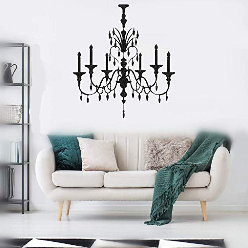 Pikaes Wall Stickers Inspiring Quotes Home Art Decor Decal Mural Crystal Chandelier for Living Room Bedroom