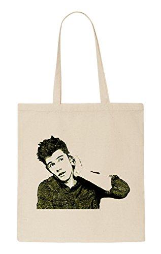 Shawn Mendes Funny natürliche organische Tasche/natural organic Bag (Beige)