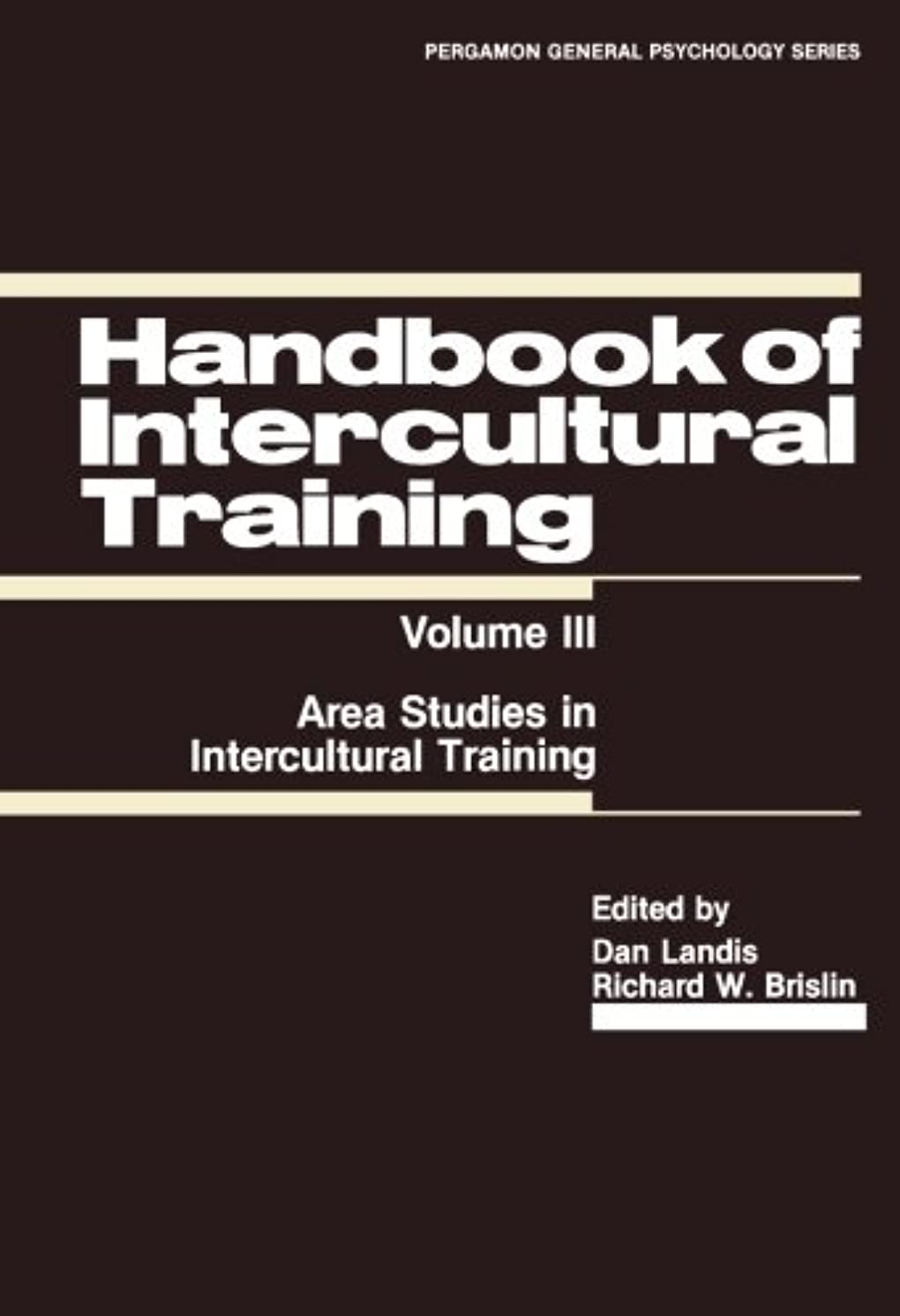 広まった引き出し挽くHandbook of Intercultural Training: Area Studies in Intercultural Training
