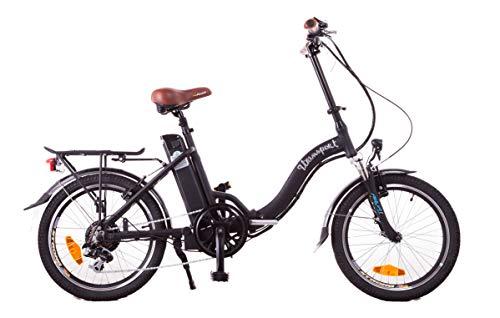 9TRANSPORT E-Bike, Bicicleta Eléctrica Lola Plegable, 250W Motor, 25 km/h Batería 36V 10Ah, Color Negro/Marrón