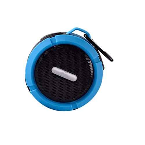 zhibeisai Altavoz portátil al Aire Libre Mini Bluetooth Altavoz portátil a Prueba de inalámbrico Ventosa Resistente al Agua Azul