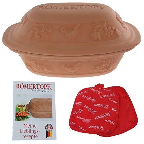 Römertopf Rustico unglasiert, Keramik, terrakotta, 3 Liter