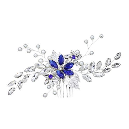 Lurrose Bridal Comb Crystal Pearl Headdress Rhinestone Hairbands Hair Comb Accessory Gift