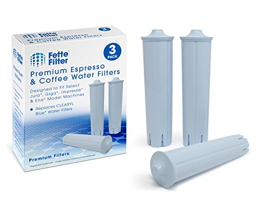 Fette Filter - Water Filter Compatible with Jura Clearyl Blue. Compare to Part # 71445 or 67879. (3-Pack)