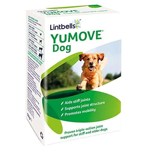 Lintbells YuMOVE - Suplemento de Cadera y articulaciones para Perros Adultos rígidos, con glucosamina, condroitina, mejillón de Labios Verdes | 6 a 8 años | 60 tabletas