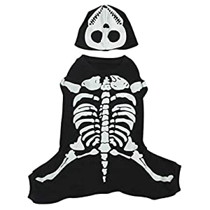 Casual Canine Cotton Glow Bones Dog Costume, X-Small, 8-Inch