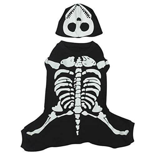 Casual Canine Cotton Glow Bones Dog Costume, Large, 20-Inch