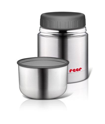 Reer 90430 - Edelstahl -Warmhaltebox für Nahrung mit Becher, 350ml