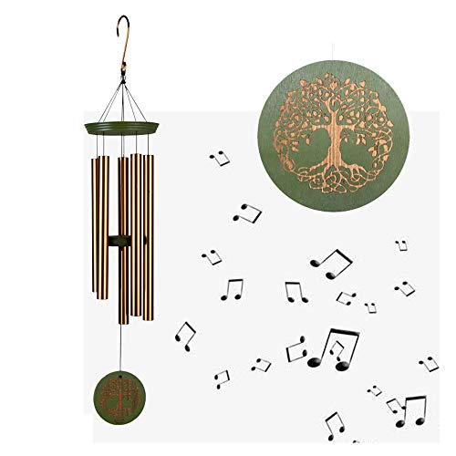 ETDOOD Wind Chimes for Outside, 36 inch Memorial Windchimes Music Sound, Sympathy Wind Chimes Gifts for Mother Xmas Garden Hanging Déco