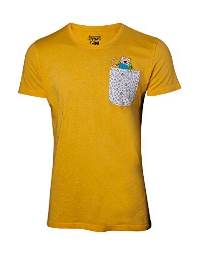 Adventure Time Jake & Finn T-Shirt gelb XL