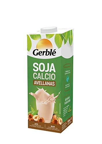Gerblé Soja Bebida de Soja Calcio con Sabor Avellanas, 1L
