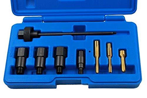 US Pro 5873 Glühkerzen Gewindereparatur Satz M8 M10 M12 Set Dichtsitz Reinigung Reibahle