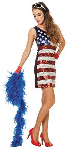 Karneval-Klamotten Amerika Kostüm Damen USA Damen-Kostüm Pailletten