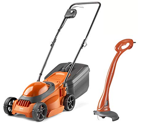 Flymo SimpliMow 300 Electric Rotary Lawn Mower with MiniTrim Grass Trimmer- 1000 W Motor, 30 cm Cutting Width, 30 Litre Grass Box, Close Edge Cutting, Comfortable to Manoeuvre, Foldable Handles
