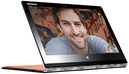 Lenovo Yoga 3 Pro 33,8 cm (13,3 Zoll QHD+ IPS) Convertible Ultrabook (Intel Core M-5Y71, 2,9GHz, 8GB RAM, 256GB SSD, Intel HD Graphics 5300, Touchscreen, Win 8.1) clementine orange