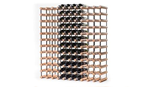 RAXI™ Classic Premium Weinregal aus Holz mit luxuriösem Design, Flaschenregal für 120 Wein Flaschen 99x108,5x30 cm