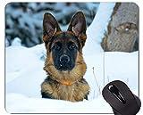 Yanteng Alfombrillas para ratón, Alfombrillas para Juegos, alfombras de Perro Pastor alemán 985445