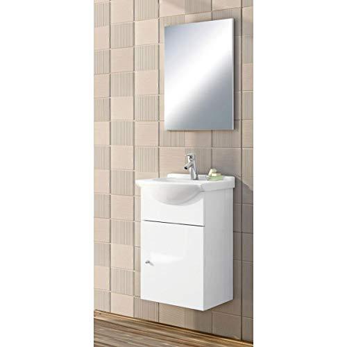 Valblue Waschplatz mit Spiegel Wachset Waschbecken Siena