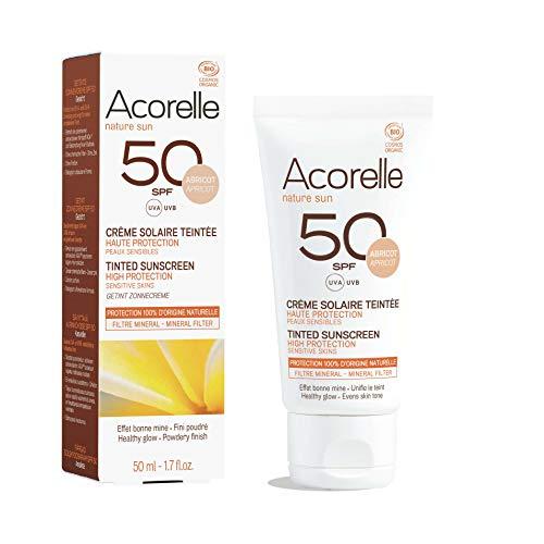 Crème solaire teintée SPF 50 bio Abricot