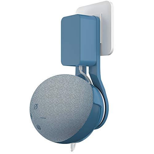 Cozycase Dot (4. Generation) Wandhalterung- Platzsparend Halterung Zubehör, Ideal für Küche, Bad und Schlafzimmer, Keine Schrauben notwendig (1-Packung, Blaugrau)