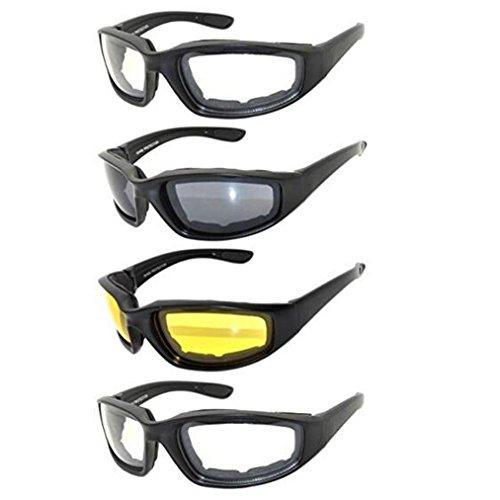 Gafas para Moto y Montar, Juego de 4...
