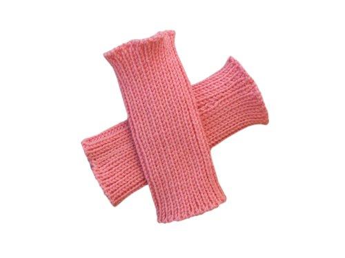 100% Merinowolle Baby Kleinkind Armstulpen Strickhandschuhe Gr. 1-2 Jahre, rose