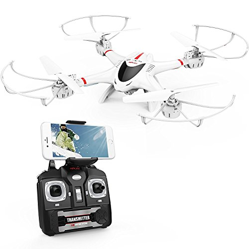 DBPOWER X400W FPV RC Quadcopter Drone with WiFi Camera Live Video One Key Return Function Headless...