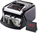 TACKLIFE Money Counter MMC01, Bill Counting Machine (USD only) with UV/MG/IR Detection, Counterfeit Bill Detection, Batch Modes, 1,000 Notes Per Minute, LED Display - Doesn't Count Value of Bills