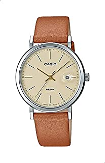 CASIO Leather Band Analog Watch for Women - Tan