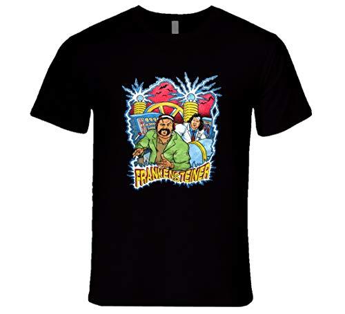 FUBAO The Steiner Brothers Frankensteiner Rare Classic Retro Wrestling T-Shirt schwarz Gr. XXL, Schwarz