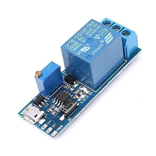 10PCS / LOT 5V-30V Módulo de temporizador de relé de retardo Interruptor de retardo de disparo Módulo de relé ajustable de alimentación Micro USB