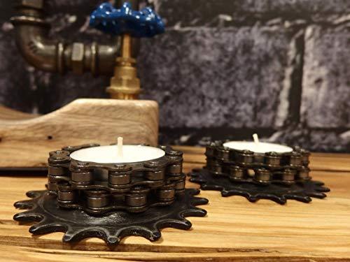Bikes Bazaar Velas de té de Metal (2 Unidades), Color Negro, 30 cm de Alto x 10 cm de Profundidad.