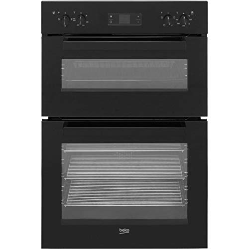 Beko BDF22300B Large Capacity Electric Built In Double Oven - Black
