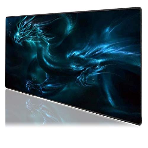 Medium Gaming Mouse Pad Mat Extended Professional Medium Size 27.5inX11.8inX0.1in Mouse Keyboard Pad with Stitched Edges, Anti-Slip Rubber Base Huge Desk Pad Mat (Dragon Medium)