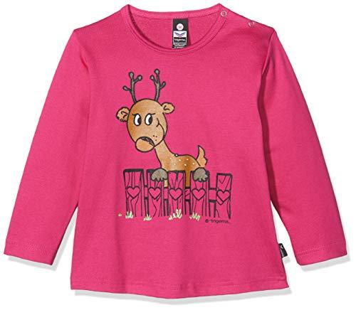 Trigema 102553019 T-Shirt, Violet (Hibiskus 038), 80 cm Mixte bébé