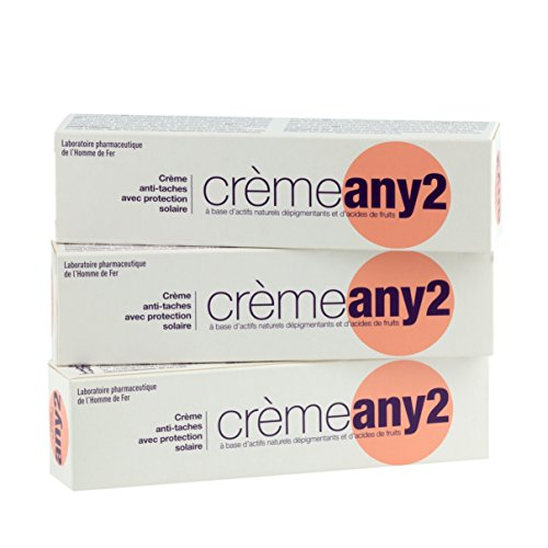 Lot de 3 Crèmes ANY 2 - Crème anti-tache avec protection solaire - Tube de 25 gr.