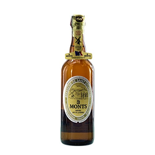 Bier Spezialität 3 Monts Bière de Flandre helles obergähriges Starkbier 0,75 Ltr. 8,5% alc.vol. mit dem Champagnerkorken