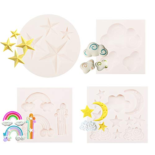 Learn More About CODOHI Moon Stars Clouds Rainbow Silicone Fondant Mold Cake Mould Candy Chocolate B...