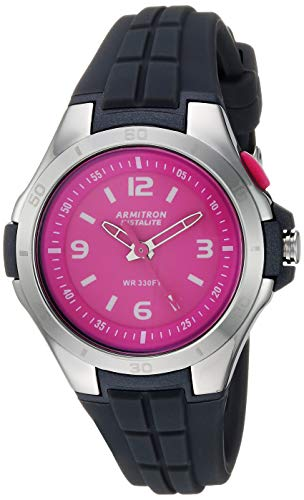 Armitron Sport Women's Japanese Quartz Sport Watch with Silicone Strap, Gray, 17.2 (Model: 25/6436PGY)