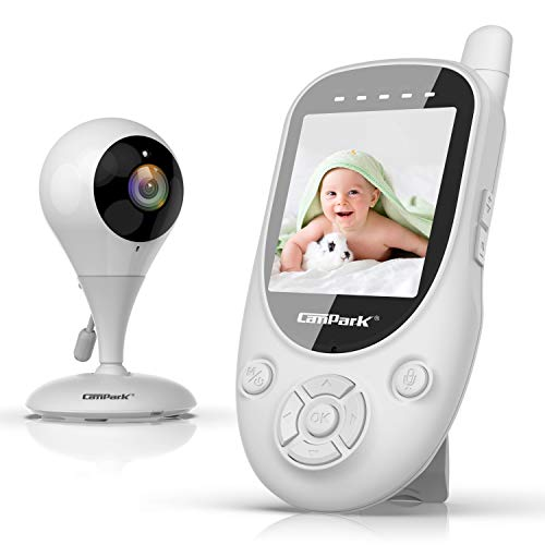 Campark 【Updated Version】 Baby Monitor with 2.4GHz Wireless Digital Camera - Privacy Protection, 1000ft Video Monitor, Auto Night Vision, 2-Way Talk, VOX Lullabies and Temperature Sensor
