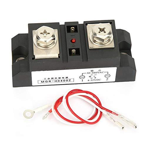 Relés de estado sólido industriales, control de CC AC SSR 300A / 350A / 400A Relé electromagnético para equipos petroquímicos, máquinas herramientas CNC(MGR-H3400Z)