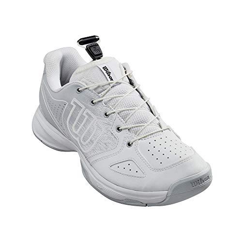 Wilson Niños Kaos Ql Junior Zapatillas De Tenis Zapatilla Todas Las Superficies Blanco - Gris Claro 38 1/3
