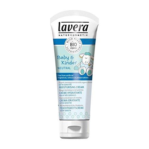 Lavera Crema Hidratante Extra Sensitive para Bebés - vegano - cosméticos naturales 100% certificados - cuidado de la piel - 75 ml
